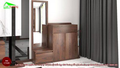 Tủ giáy gỗ óc chó CT418