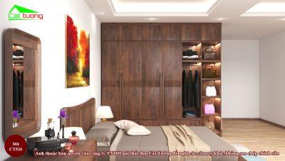 tủ quần áo gỗ óc chó CT526