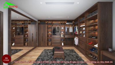 Tủ quần áo gỗ óc chó CT523 n6