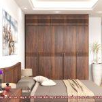 Tủ quần áo gỗ óc chó CT524 n2