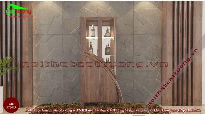 tủ rượu gỗ óc chó CT463