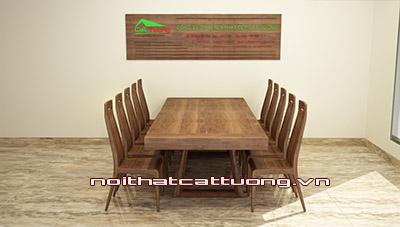 Bàn ghế ăn gỗ óc chó ct720b
