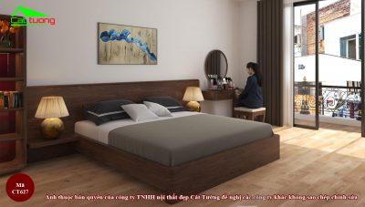 Giường ngủ gỗ óc chó CT627
