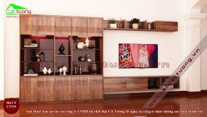 Tủ trang trí gỗ óc chó 13