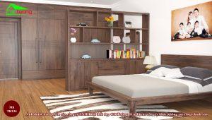 Thiết kế nội thất phòng ngủ gỗ óc chó tk134