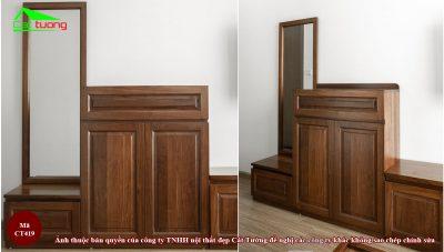 Tủ giày gỗ óc chó ct419 2
