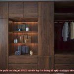 Tủ quần áo gỗ óc chó ct530