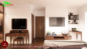 Thiết kế nội thất phòng ngủ gỗ óc chó TK133