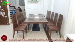 Bàn ghế ăn gỗ óc chó CT726 15