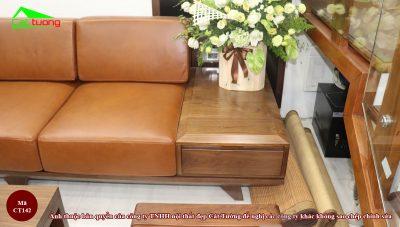 Sofa gỗ óc chó CT142 17