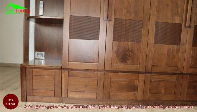Tủ quần áo gỗ óc chó CT531 15