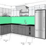 Kích thước tủ bếp gỗ 2
