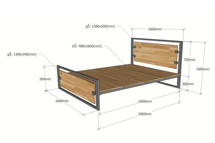 Kích thước giường đơn nhỏ xinh