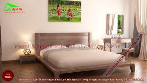 Kích thước giường gỗ óc chó