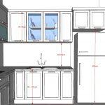 Kích thước tủ bếp chữ L 4