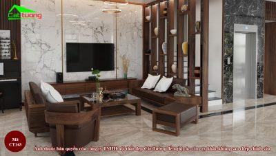 Sofa gỗ óc chó CT143 thiết kế đẳng cấp