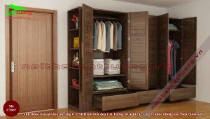 Kích thước tiêu chuẩn tủ quần áo với các ngăn tủ bên trong