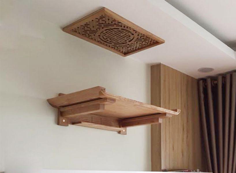 Chiều cao bàn thờ treo tường