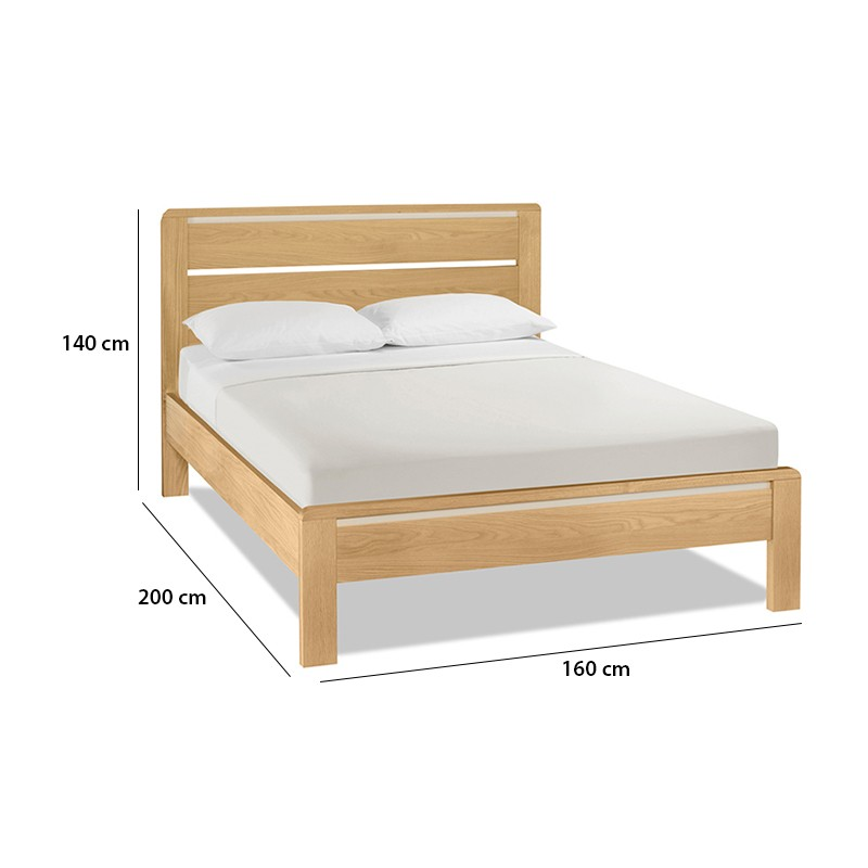 Giường ngủ đơn gỗ tự nhiên