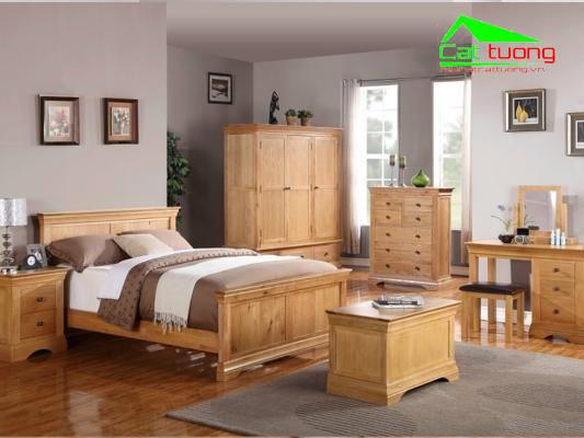 Phòng ngủ gỗ sồi 2