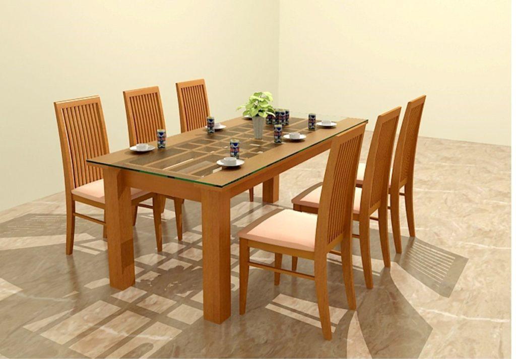 Mẫu bàn ăn 6 ghế đẹp