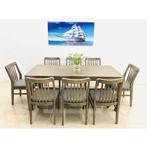 Bộ bàn ăn gỗ sồi 8 ghế