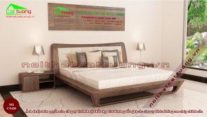 Kích thước giường king size gỗ óc chó
