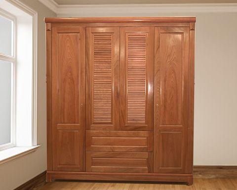Tủ quần áo 3 buồng gỗ xoan đào