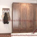 Tủ quần áo gỗ óc chó CT519