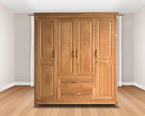 Tủ 4 buồng đẹp gỗ sồi