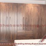 Tủ gỗ đựng quần áo 3 buồng