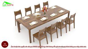 Bàn ghế ăn gỗ óc chó CT735 a