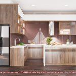 Tủ bếp gỗ óc chó CT821