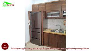 Tủ bếp gỗ óc chó CT822 i