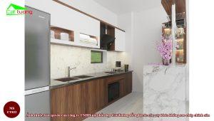 Tủ bếp gỗ óc chó CT822 j