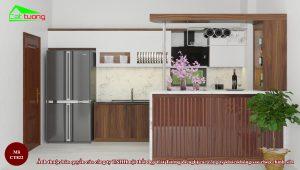 Tủ bếp gỗ óc chó CT822 m