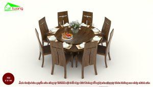 Chiều cao bàn ghế ăn