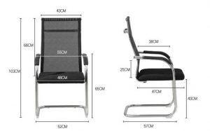 Chiều cao ghế làm việc