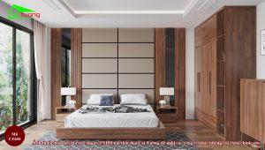 Giường gỗ óc chó CT634
