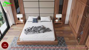 Giường gỗ óc chó CT634 a