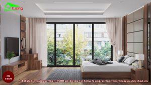 Giường gỗ óc chó CT634 d