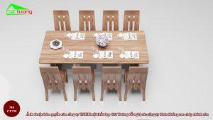 Kích thước bàn ăn dài