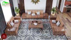 Sofa gỗ óc chó CT152 B