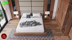Táp đầu giường gỗ óc chó CTA00
