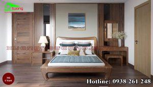Táp đầu giường gỗ óc chó CTA01