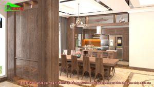 Không gian nấu ăn biệt thự Vinhomes Imperia Hải Phòng