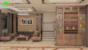 Phòng khách biệt thự Vinhomes Imperia Hải Phòng