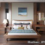 Giường ngủ gỗ óc chó CT635