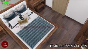 Giường ngủ gỗ óc chó CT635 A