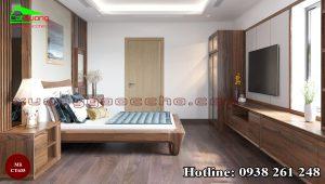 Giường ngủ gỗ óc chó CT635 B